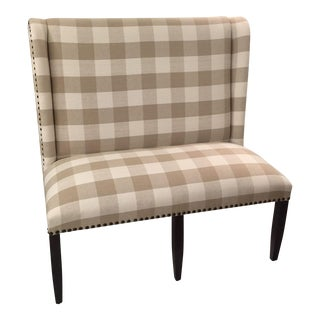 Buffalo Check Winged Settee