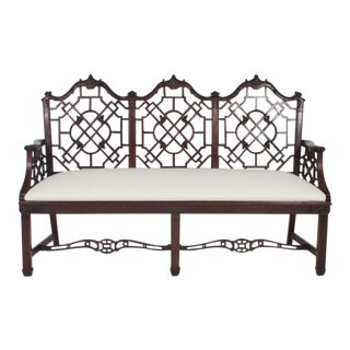 Antique English Chinese Chippendale Style Settee