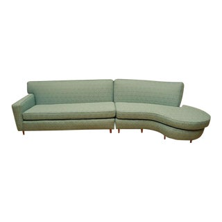 Serpentine Sectional Sofa in the Style of Vladimir Kagan