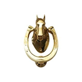 Solid Brass Horse Head Door Knocker