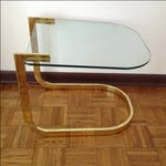 Image of Baughman for DIA Flat Bar Brass Cantilever Table
