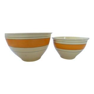 Roseville Batter Bowls - A Pair