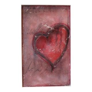 """2017 """"Heart, I."""" Original Fresco Oil and Pastel on Framed Panel"""