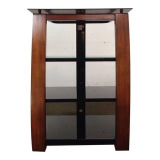 Contemporary Mahogany & Black Lacquer Entertainment Center