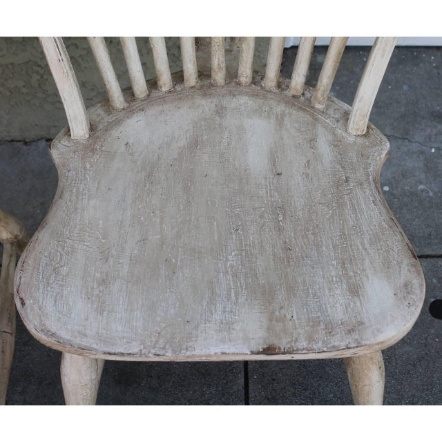 Pair of 19th Century White Painted Windsor Chairs - Image 4 of 8