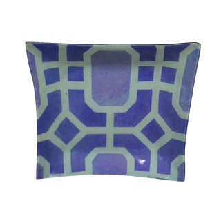 Blue Patterned Catchall Tray