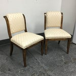 Image of Baker Upholstered Wooden Chairs - A Pair