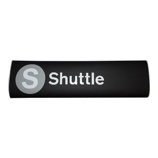 New York City Subway Times Square Shuttle Sign