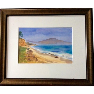 Contemporary Watercolor Beach Painting