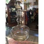 Image of Heavy Crystal 60s Wine Decanter and Globe Stopper
