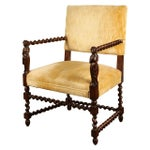 Image of Continental French Chair with Barley Twist Arms, circa 1870