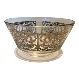Mid-Century Modern Georges Briard Silver Decorated Bowl