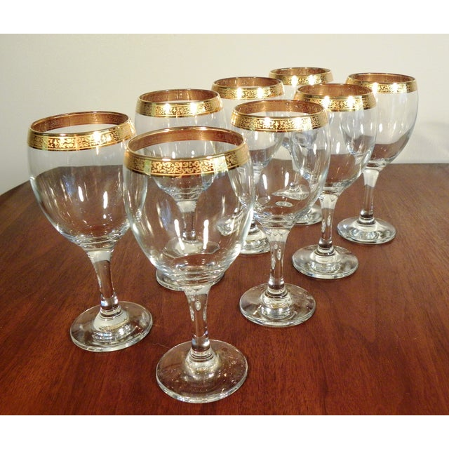 Vintage Hand Blown Glasses - Set of 8 - Image 2 of 7