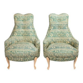 Mid-Century Regency Slipper Chairs - A Pair