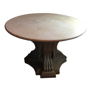 Travertine and Stone Dining Table