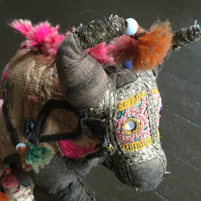 Antique Indian Boho Chic Yak Doll - Image 4 of 9