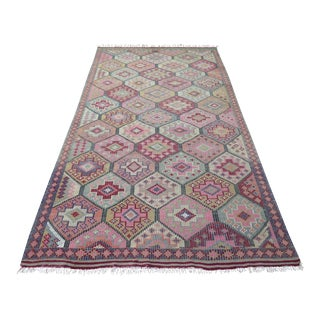 Vintage Turkish Kilim Rug - 5′8″ × 10′6″