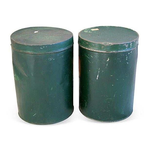 Image of Antique Apothecary Herbalist Tins - Set of Two