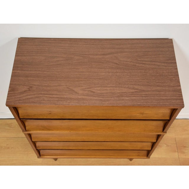 Johnson Carper Walnut and Formica Tall Dresser - Image 5 of 8