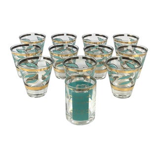 Mid-Century Shot Glasses and Jigger - Set of 12