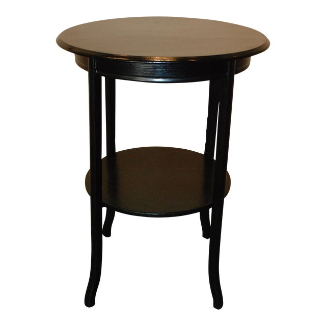 Image of Black Round Side Table