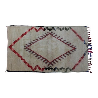 Vintage Beni Ourain Moroccan Rug - 6'3'' x 3'6''