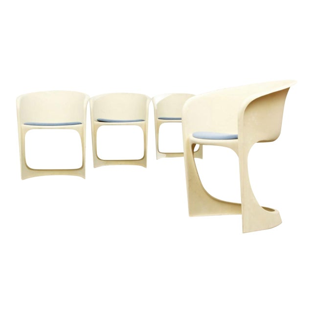 'Cado' Steen Ostergaard 1966 Mid Century Danish Modern Molded Plastic Stacking Dining Chairs - Set of 4 - Image 1 of 7