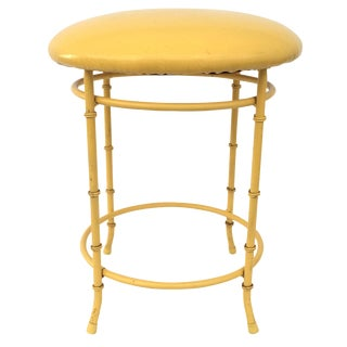 Chinoiserie Faux-Bamboo Yellow Stool
