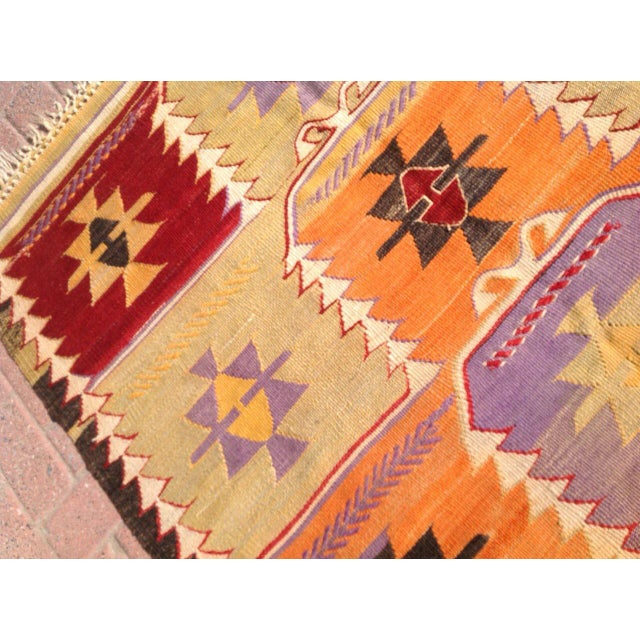 Vintage Turkish Kilim Rug - 4′2″ × 6′2″ - Image 5 of 6