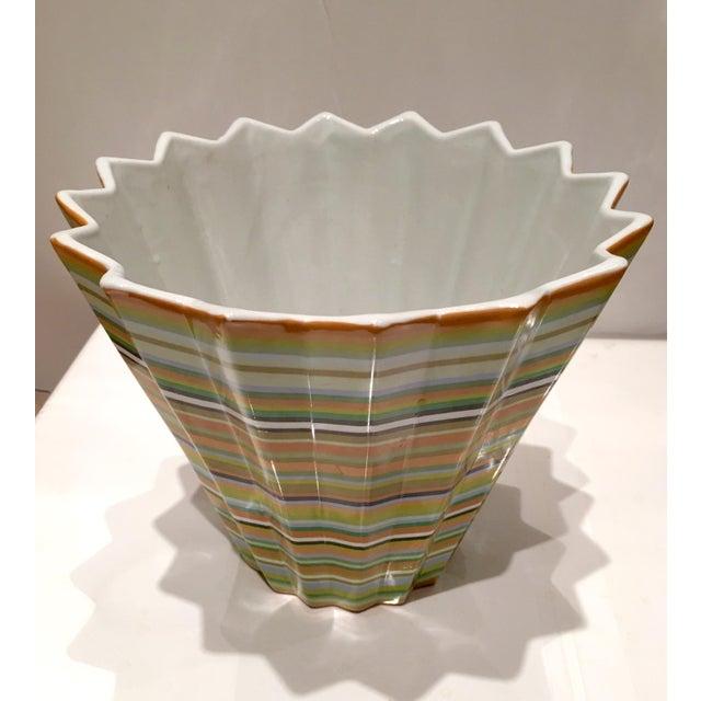 Fabienne Jouvin Paris Chevron Decorative Bowl - Image 5 of 6