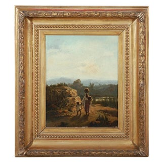 Arabasque Oil Painting Desert Scene with Figures