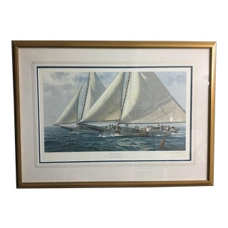 """Racing for the Oysters"" Nautical Print"