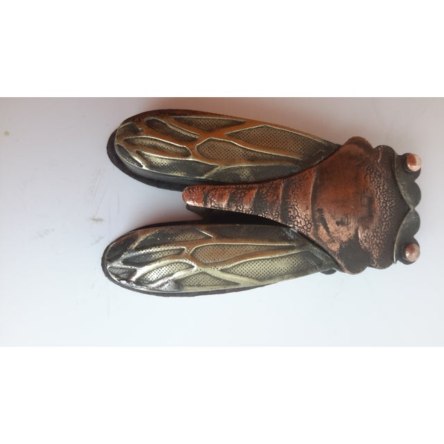 Image of Vintage Chinese Caligraph Cicada Inkwell