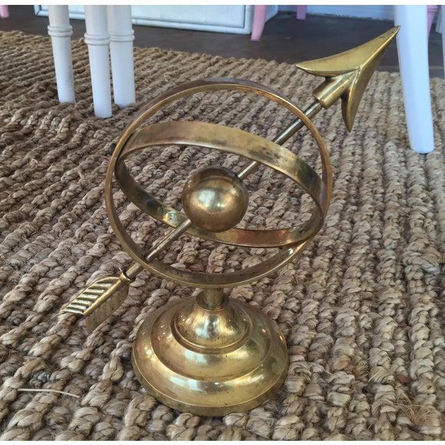 Image of Vintage Decorative Brass Sundial
