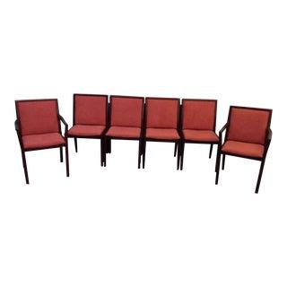 Scandinavian Modern Teak & Suede Dining Chairs