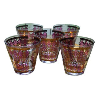 Moroccan Style Georges Briard Lowball Glasses