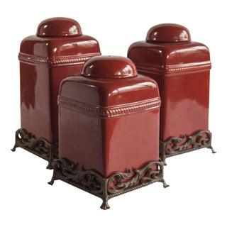 Trio of Ceramic Containers