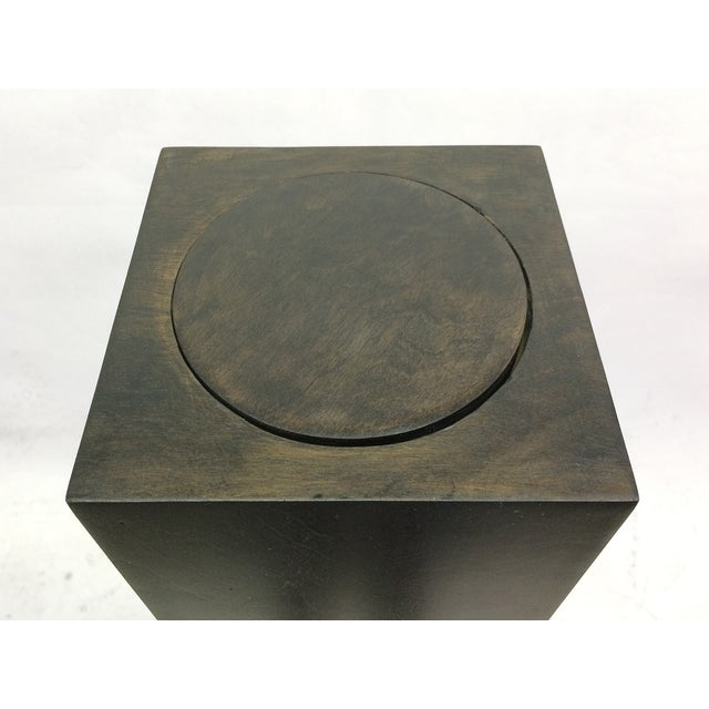 Image of Ebony Stain Swivel Top Pedestal