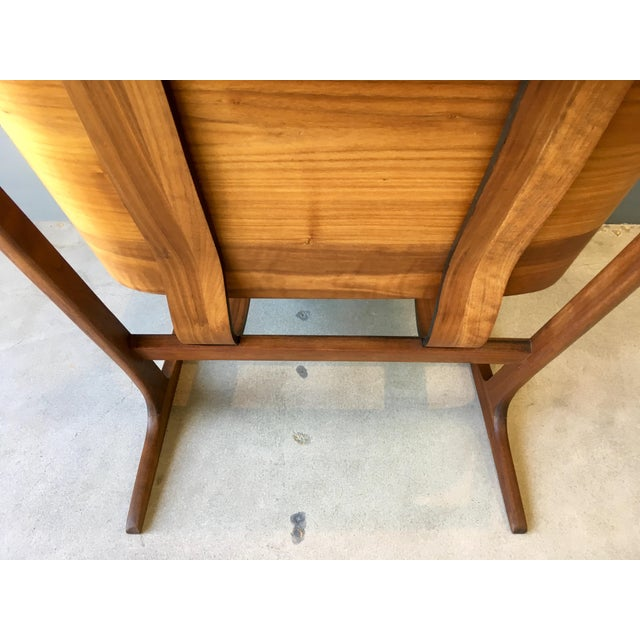 Grete Jalk Style Mid-Century Bent Walnut Side Chair - Image 9 of 10