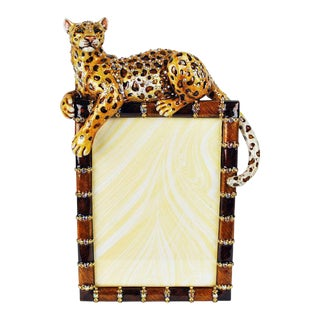Jay Strongwater Jeweled Leopard Picture Frame