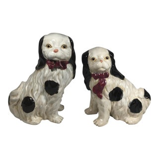 Staffordshire Porcelain Dogs - A Pair
