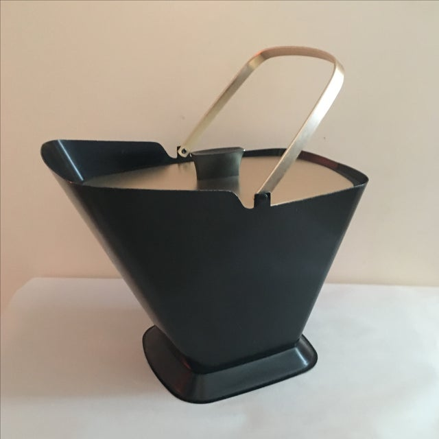 Image of West Bend Retro Black & Gold Ice Bucket