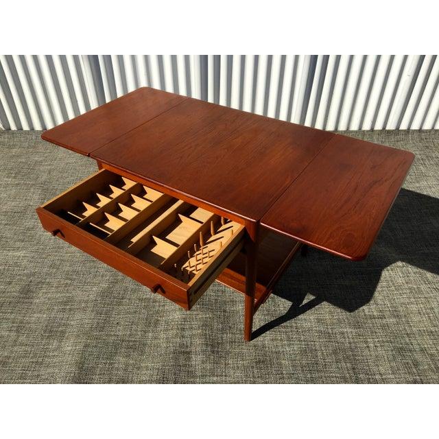 Danish Modern Hans Wegner Sewing Table A33 - Image 5 of 7