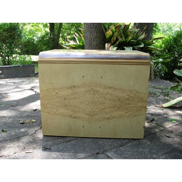 Henredon Olive Burl and Ebony Side Table/Stool - Image 6 of 10