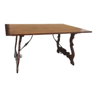 Spanish Mission Hand Crafted Trestle Table