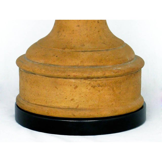 Pair of Italian Terracotta Ram's Head Table Lamps - Image 4 of 6