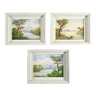 "Peter Kosta ""Florida Everglades"" Oil Paintings- Set of 3"