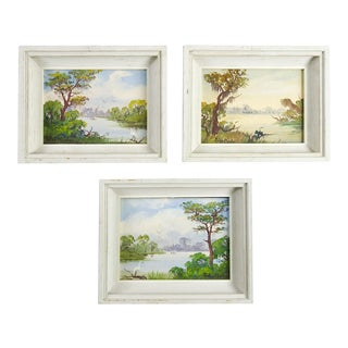 "Peter Kosta ""Florida Everglades"" Oil Paintings- Set of 3"