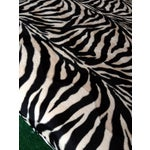 Image of Oversized Zebra Print Cocktail Ottoman