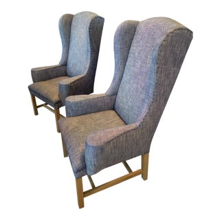 Restoration Hardware Belfort Wingback Armchairs - A Pair